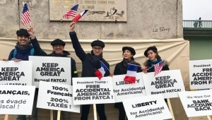 Association of Accidental Americans demonstration in Paris in 2018
