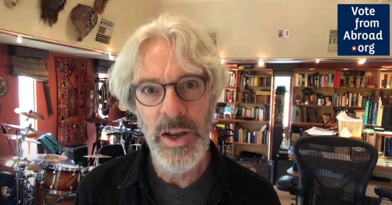 Former Police drummer Stewart Copeland, to expat fellow Americans: 'Vote!'