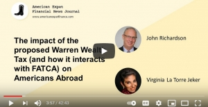 The AXFNJ YouTube interview:  How Elizabeth Warren's proposed 'Ultra-Millionaire Tax Act' could impact Americans abroad