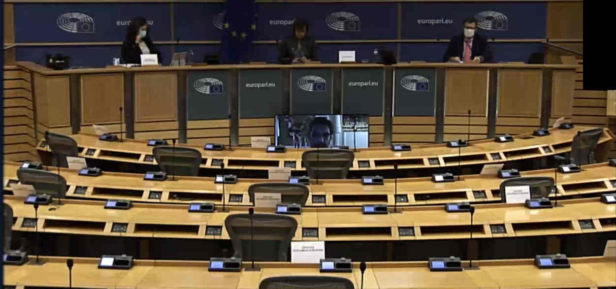 Paul-Henri Spaak Building conference room in Brussels on Tuesday