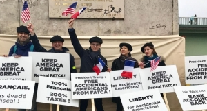 'Accidental Americans' demonstrate in Paris, minus invited guest (Trump)